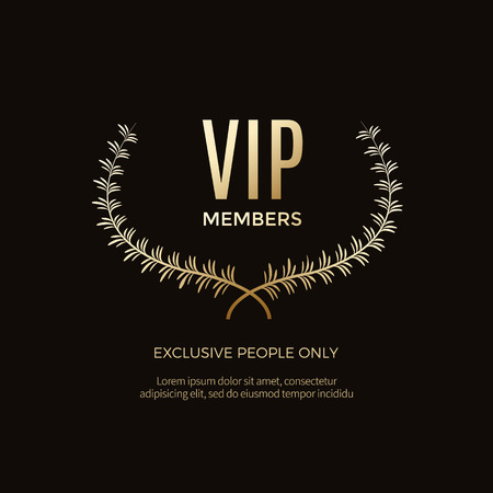 Luxury vip labels and objects 向量圖像