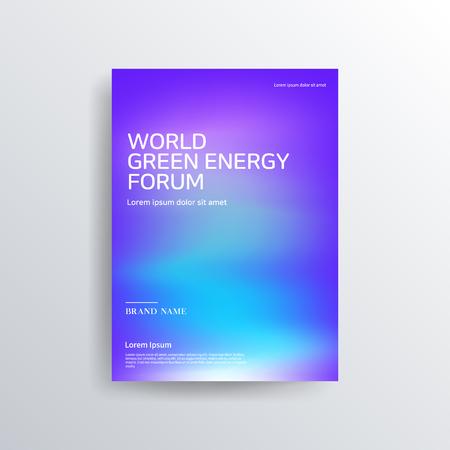 Diseño de folletos de colores coloridos, diseño de portada abstracta, fondo iridiscente Ilustración de vector