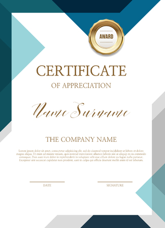 Certificate of simple background