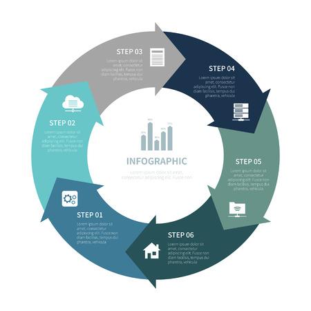 Vari infografica aziendale, grafico infografico, elementi infografici vettoriali