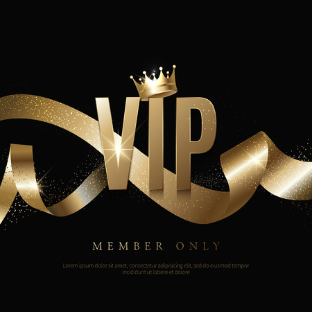 Luxury vip invitations and coupon backgrounds Illustration