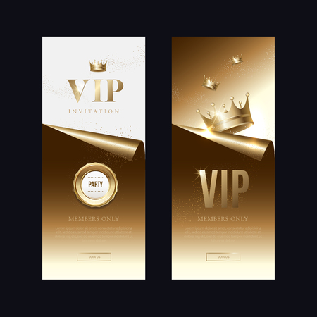 Luxury vip invitations and coupon backgrounds Vecteurs