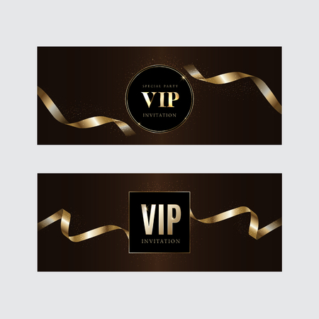Luxury vip invitations and coupon backgrounds 向量圖像