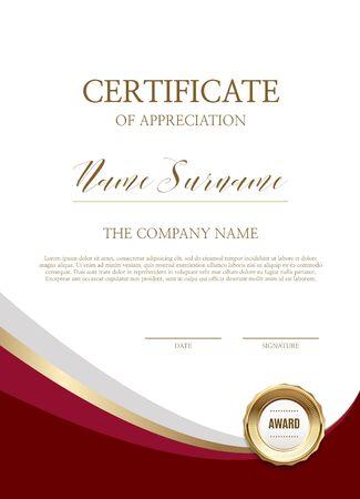 Certificate of simple background Ilustração