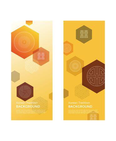 Korean traditional background & banner