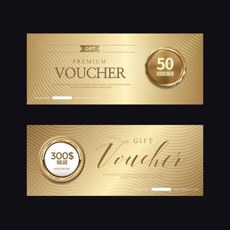 Luxury vip invitations and coupon backgrounds Ilustração Vetorial