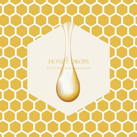 Honey Drip and Honey Background