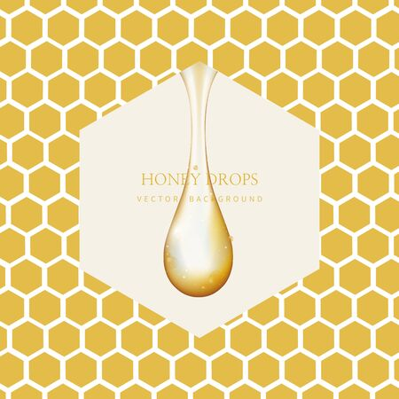 Honey Drip and Honey Background 免版税图像