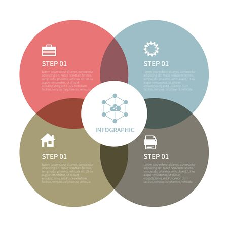 Varios negocios infografía, gráfico infográfico, elementos infográficos vectoriales