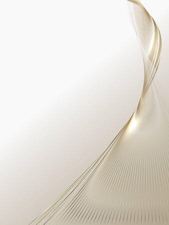 Abstrait de lignes d'or de luxe, brochure et fond d'affiches