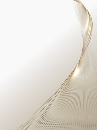 Streszczenie tło luksusowych złotych linii, broszury i tła plakatu
