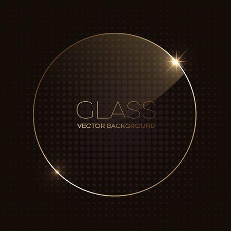 Transparent glass frame Stock Illustratie