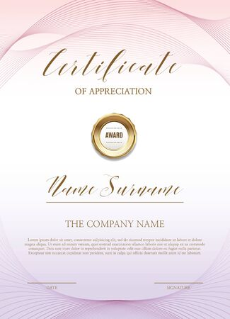 Certificate of simple background Illustration