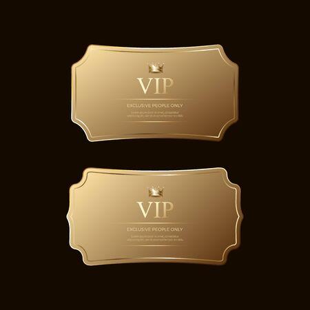 golden badges template, Luxury premium golden badges and labels Premium Vector