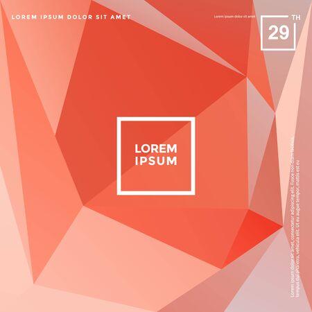 Abstract polygonal geometric vector background, Irregular shape pattern Çizim