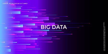 Fortschrittlicher Technologiehintergrund, abstrakte 5G-Konzeptillustration, große Daten