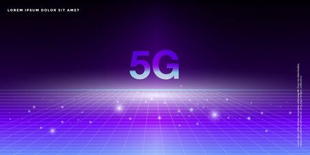 Advanced technology background, Abstract 5G concept illustration, big data