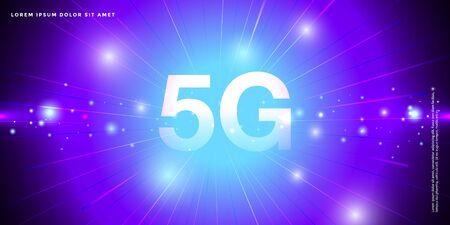 5G Network Internet Mobile Wireless Business concept.5G standard of modern signal transmission technology. 写真素材