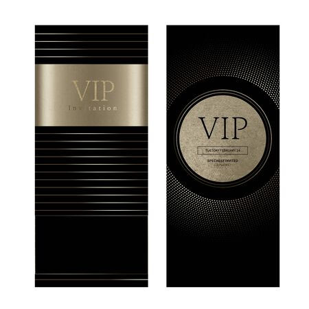 VIP invitation, luxury coupon object, invitation template