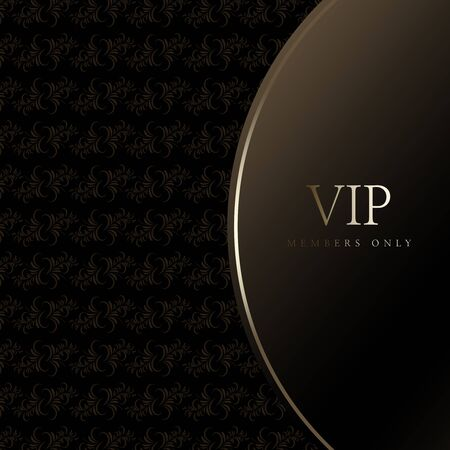 VIP invitation, luxury coupon object, invitation template