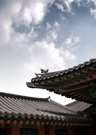 korean traditional architectural building Stock Photo