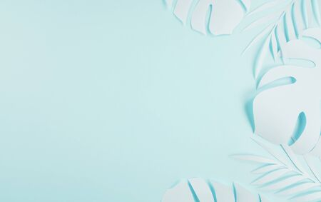 paper palm leaves, paper concept of tropical summer