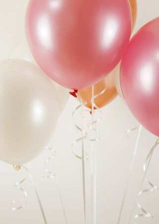 Colorful balloons background