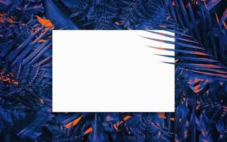 Fluorescent summer background, abstract summer frame & banner
