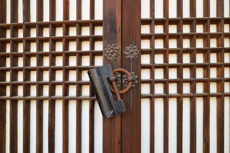 Korean traditional house door 版權商用圖片