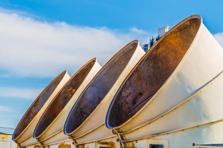 venting: Heating ventilation shafts Stock Photo