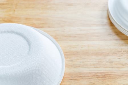 biodegradable material: Biodegradable food containers Stock Photo