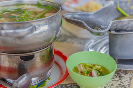 favorite soup: Tom Yum seafood soup or spicy tom yum seafood soup ,Thai food favorite