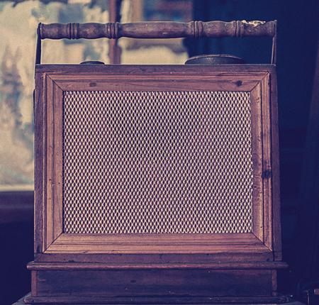 shortwave: antique radio on vintage