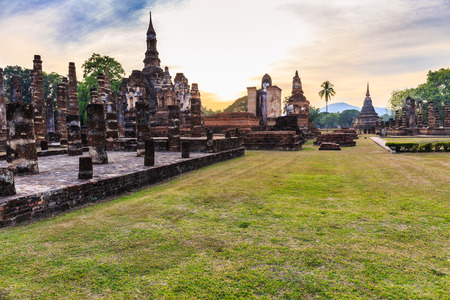 the historical: Sunset Sukhothai Historical Park
