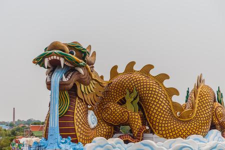 Huge dragon statue background