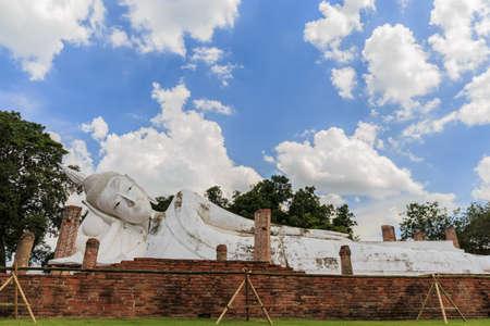 reclining: Reclining Buddha of Wat Khun Inthapramun at Angthong Province Thailand
