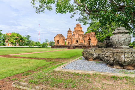 castle rock: Prasat Sikhoraphum or Castle Rock temple in Surin of Thailand