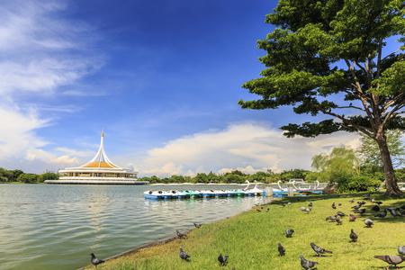 Suanluang RAMA IX Park in Thailand Stock Photo