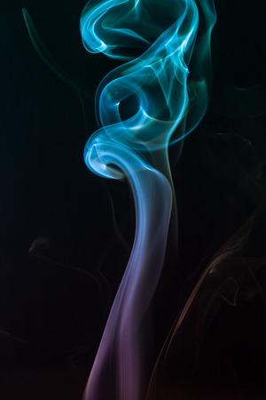 colorful smoke on dark background Stockfoto