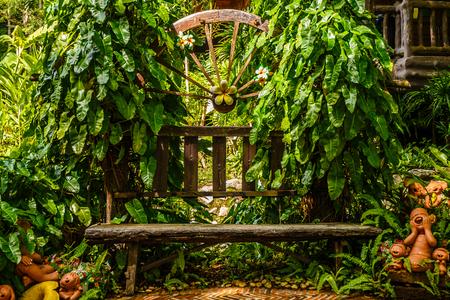 Garden in late summer Stock Photo