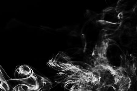 Smoke on black background Standard-Bild