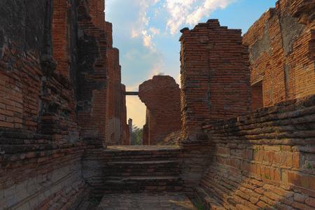 Pagoda at wat phra sri sanphet temple at twilight, Ayutthaya, Thailand Banco de Imagens