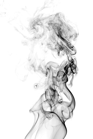 bunter Rauch auf dunklem Hintergrund Standard-Bild