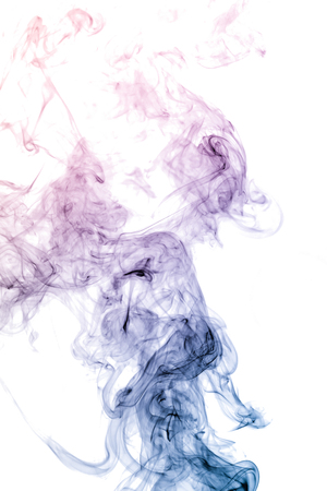 colorful smoke on white background Foto de archivo