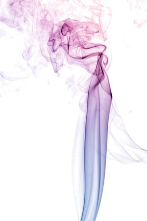 colorful smoke on white background 版權商用圖片