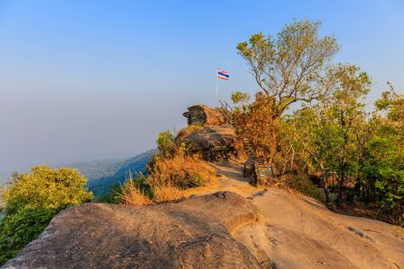 Beautiful scenery during sunset time of LAN HIN PUM viewpoints at Khao Kho District ,Phetchabun Province in Thailand is a very popular for photographer and tourists. Attractions and natural Concept