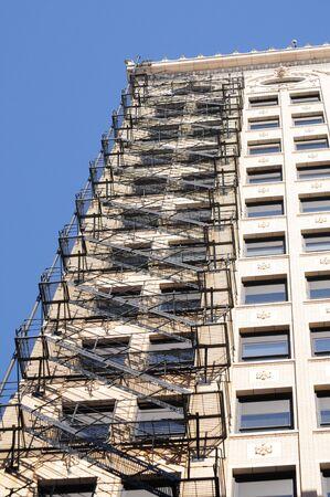escape: Building with fire escape