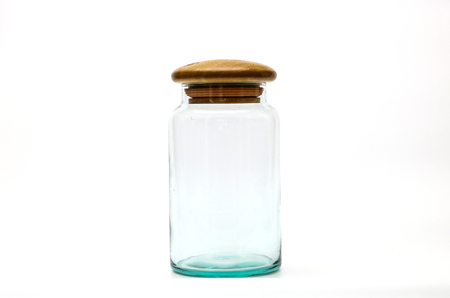 A glass jar isolated Imagens