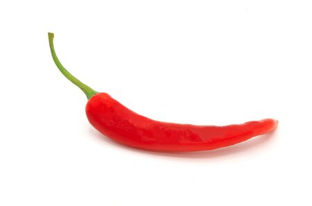 red hot chilli pepper on white background , isolated