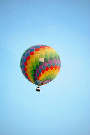 Rainbow balloon on the blue sky at Pattaya photo